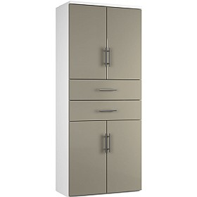 Reflections Stone Grey Twin Double Door Combination Cupboard With Drawers