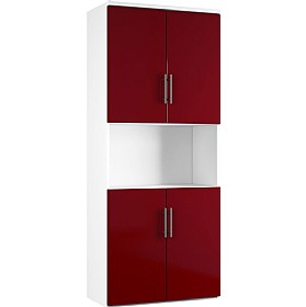 Reflections Burgundy Twin Double Door Combination Cupboard