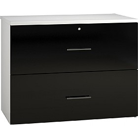 Reflections Black Side Filing Cabinets