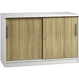 Reflections Light Olive Credenza Sliding Door Cupboards