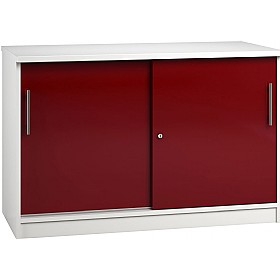 Reflections Burgundy Credenza Sliding Door Cupboards