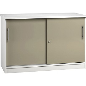 Reflections Stone Grey Credenza Sliding Door Cupboards
