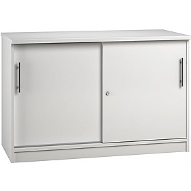Reflections White Credenza Sliding Door Cupboards