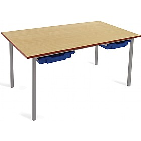 Scholar Light Grey Frame Classroom Tables With Trays