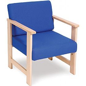 heavy duty solid beech reception armchair cheap heavy