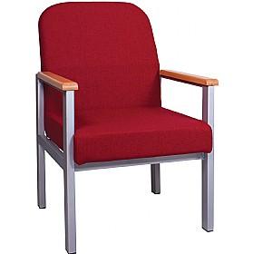 traditional extra heavy duty reception armchair fabric