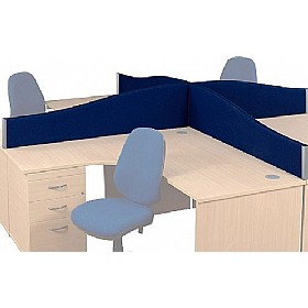 Optima Wave Desktop Screens £58 - Office Furniture