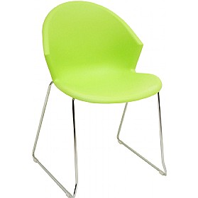 Jura Skid Base Polypropylene Chairs - Pack Of 4 £52 - Office Furniture
