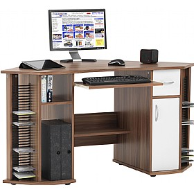 President Computer Desk Walnut
