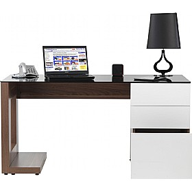 Theo Executive Walnut Computer Desk