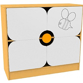 Honey Bee Flower Cupboard