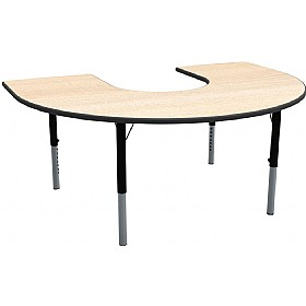 Height Adjustable Horseshoe Theme Table
