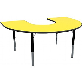 Height Adjustable Horseshoe Primary Theme Tables