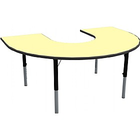 Height Adjustable Horseshoe Pastel Theme Table