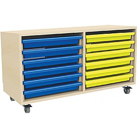 12 Tray Mobile Art & Paper Storage Unit