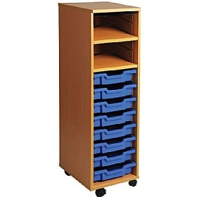 8 Tray Single Bay Mobile Storage Unit