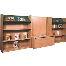 Nexus Library Bench Seat Combination Bookcases