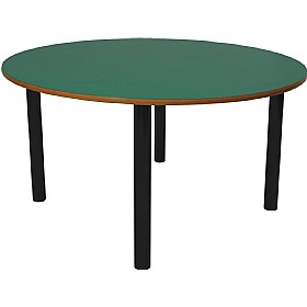 Scholar Black Frame Super Heavy Duty Circular Cylinder Legged Tables