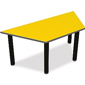 Scholar Black Frame Super Heavy Duty Trapezoidal Cylinder Legged Tables