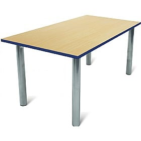 Scholar Silver Frame Heavy Duty Rectangular Cylinder Legged Tables