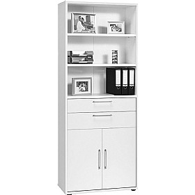 Venture Tall Combination Cupboard With Drawers