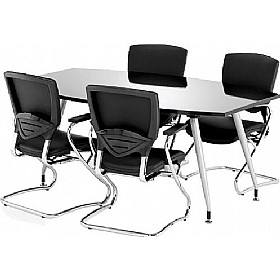 Black Lumina High Gloss Boardroom Table