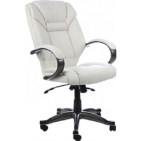 Lichfield White Enviro Leather Chair