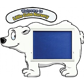 WeatherShield Nursery / Primary Welcome Sign - Polar Bear