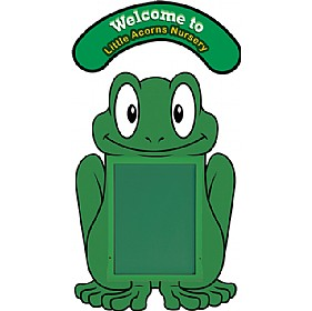 WeatherShield Nursery / Primary Welcome Sign - Frog