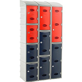 Plastic Lockers With Sloping Top
