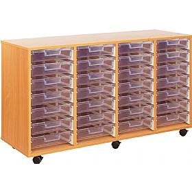 Crystal Clear 28 Shallow Tray Storage Unit