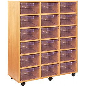 Crystal Clear 18 Deep Tray storage Unit