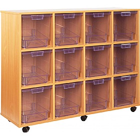 Crystal Clear 12 Jumbo Tray Storage Unit