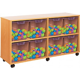 Crystal Clear 8 Jumbo Tray Storage Unit