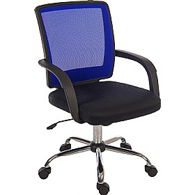 Twist Mesh Back Operator Chair Blue