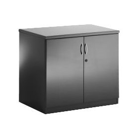 Black Lumina High Gloss Double Door Cupboard