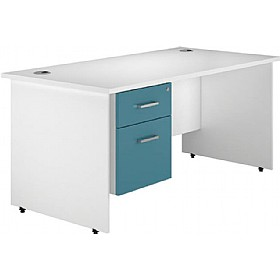 NEXT DAY Kaleidoscope Panel End Single Fixed Pedestal Desks