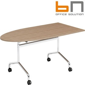 BN Flib Modular Half Oval Folding Meeting Tables