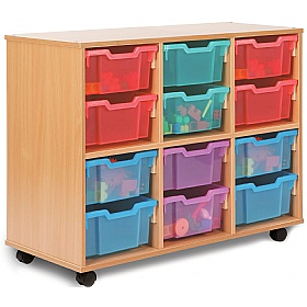 Storage Allsorts 12 Deep Jelly Tray Unit