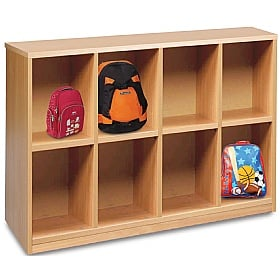 Cloakroom Storage With 8 Compartments