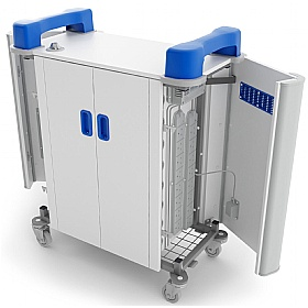 TabCabby 32H Compact - 32 Horizontal Tablet Store & Charging Trolley