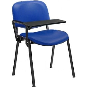 Swift Vinyl Conference Chair with Black Frame with Plastic Writing Tablet (Pack of 4 Chairs)