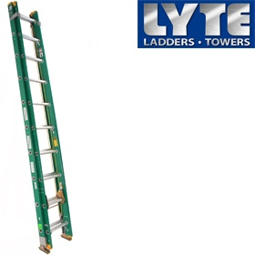 Lyte Glass Fibre Trade Double Extension Ladder