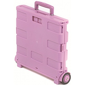 Pink Folding Box Trolley