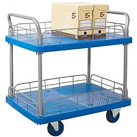 2 Shelf Trolley With Wire Surround