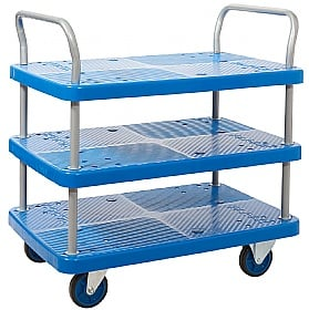 Proplaz Blue 3 Shelf Trolley