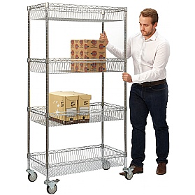 Chrome Wire Shelf Trolley