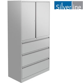 Silverline Combi:Store Cupboard & Drawer Combination Units