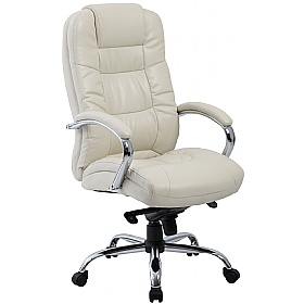 Verona Cream Executive Leather Office Chair | Cheap Verona Cream ...