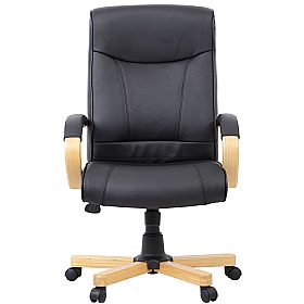 Farnham Black Leather Office Chair